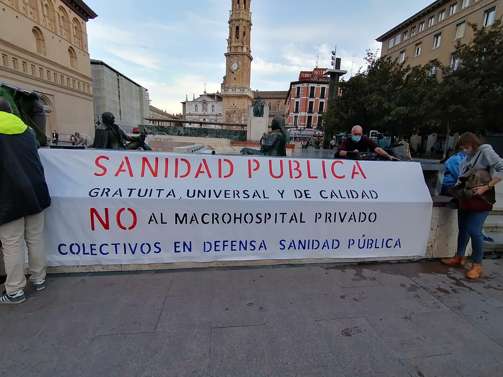 Zaragoza. 21 de Octubre.¡Por una sanidad totalmente pública!. Videos y fotos