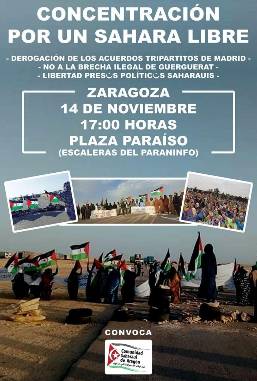 Zaragoza. CONCENTRACION POR UN SAHARA LIBRE_Sábado 14 de Noviembre