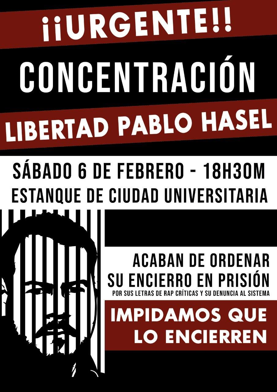 ¡¡LIBERTAD PABLO HASEL!! ¡LOS BORBONES A LOS TIBURONES! ¡MOVILIZACIONES! ¡¡AMNISTÍA TOTAL YA!!