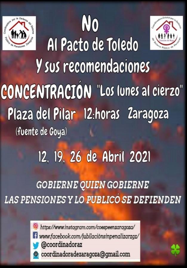 Zaragoza, lunes al Cierzo, 19 de Abril, doble cita.