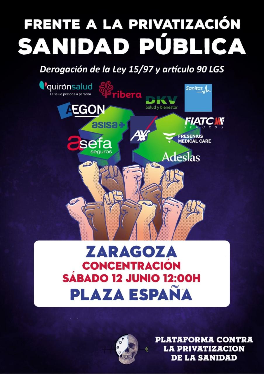 Jueves 03 de Junio. Invitación a asamblea de colectivos y organizaciones sociales movilización contra la privatización de la sanidad