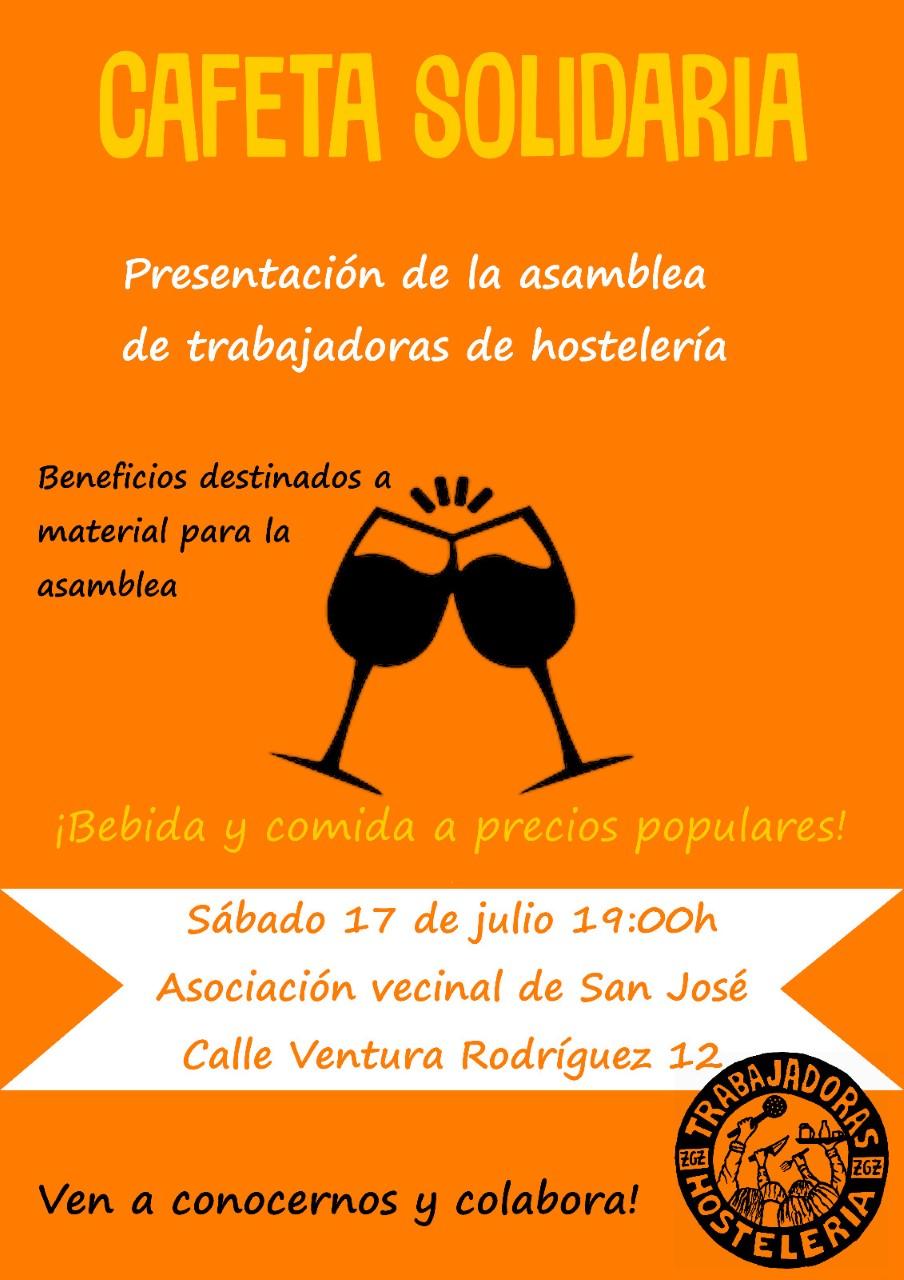 Presentación de la asamblea de trabajadoras de hostelería. Sábado 17 de Julio.