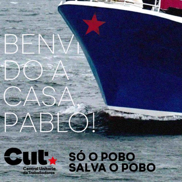 Liberado o mariñeiro Pablo Costas e toda a tripulación do 'Cobija'. Só o pobo salva o pobo!