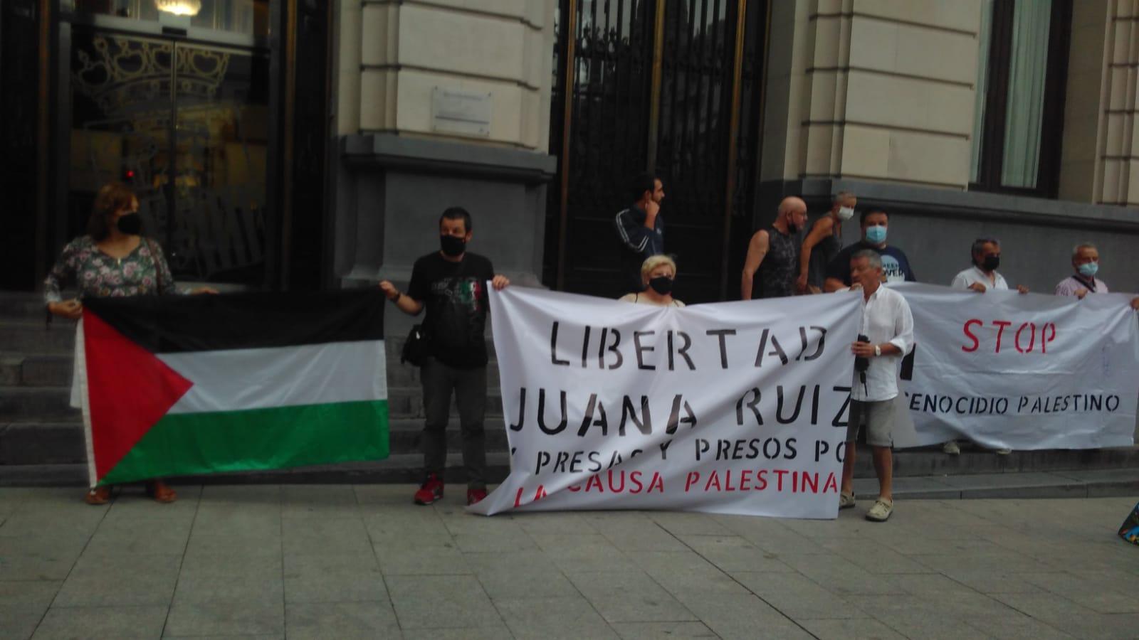 Zaragoza. Por la libertad de Juana Ruiz y de las presas y presos que luchan por la causa Palestina. Zaragoza. fotos y manifiesto