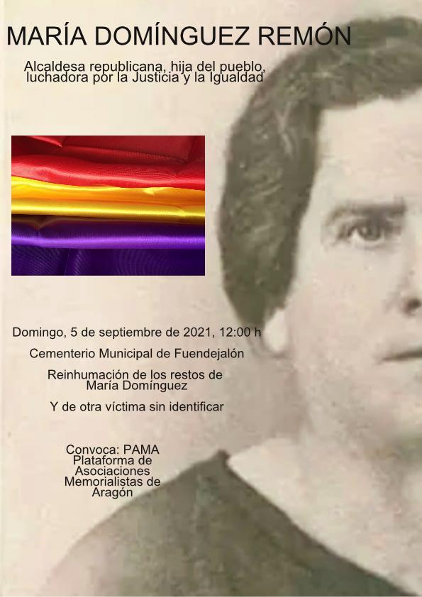 Nueva Fosa común hallada en Farasdués y Reinhumación de los restos de María Domínguez, alcaldesa republicana