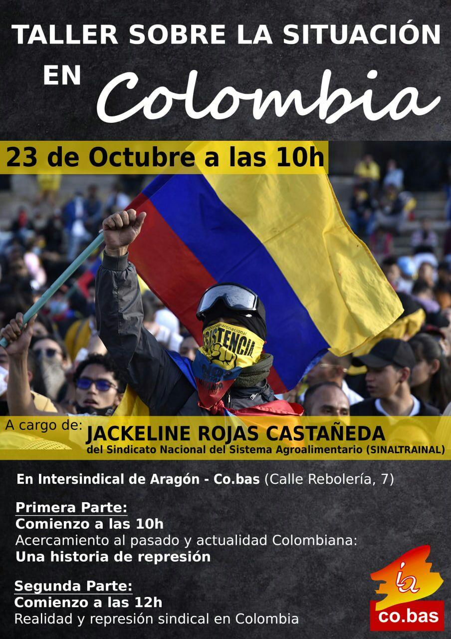 Taller sobre la situación en Colombia. Sábado 23 de Octubre.