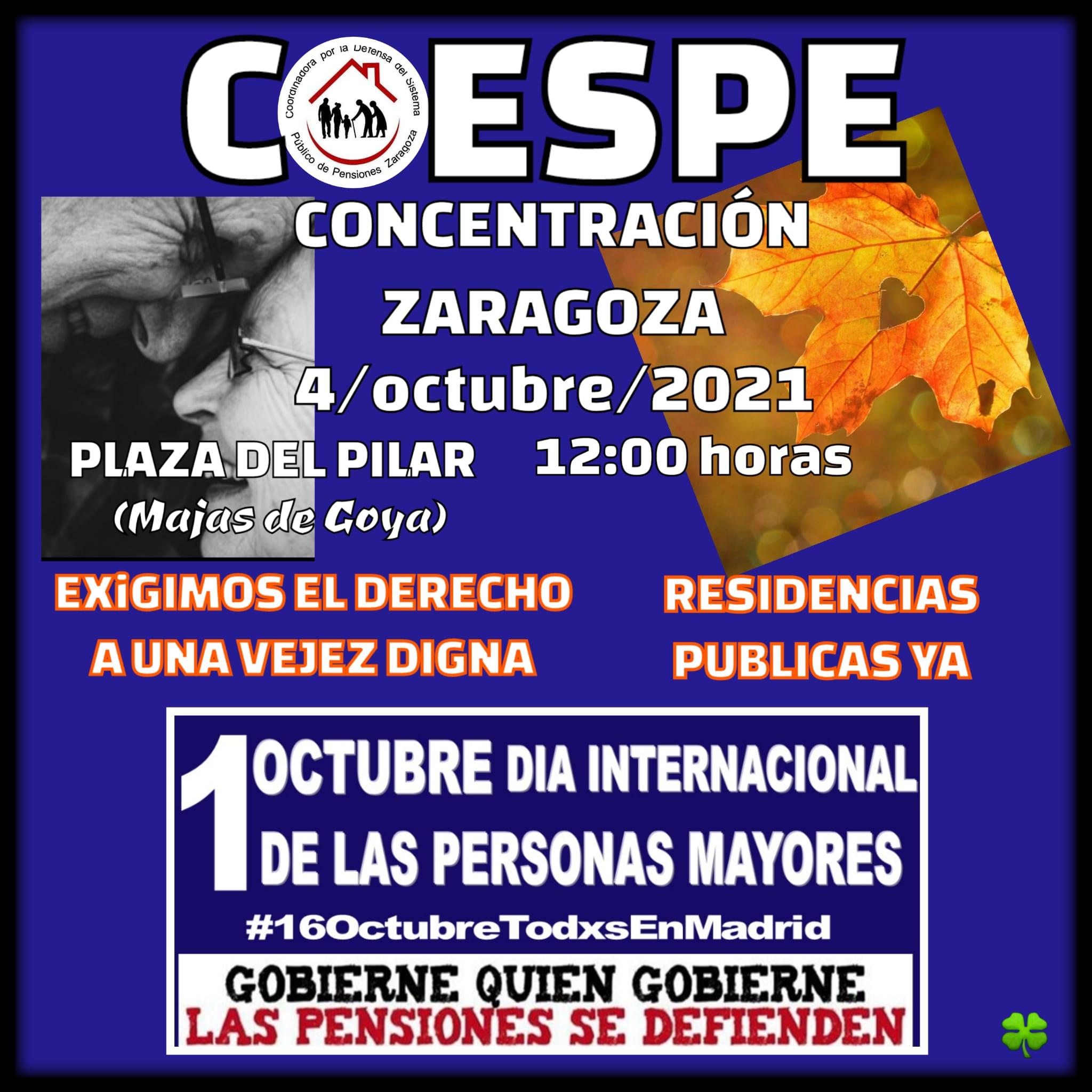 Lunes al Cierzo, 4 de Octubre y el sábado 16 de Octubre, a Madrid.