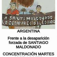 Me llamo Santiago Maldonado y estoy desaparecido…Concentración martes 22/08, Madrid