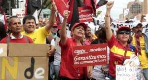 Miles de trabajadores marchan en Venezuela contra las privatizaciones que pretende la derecha