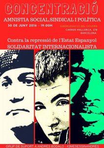 Concentració contra la repressió a Barcelona #3MesesSinAndres