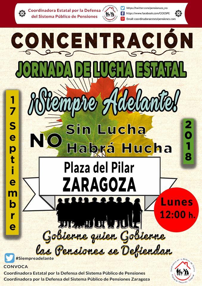 """Los lunes al Cierzo 17S. El Pacto de Toledo está «muerto"""" + Video de Jóvenes pensionistas. Coordinadora Estatal en Defensa de las Pensiones"""
