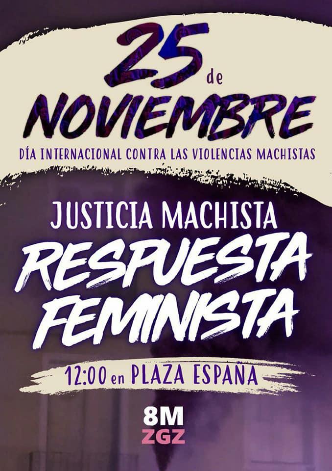 25 de Noviembre, MMD Aragón Contra la violencia Machista