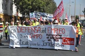 Marcha en defensa del empleo y exigiendo justicia para los jornaler@s