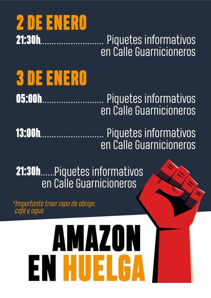 La lucha es, el único camino. Huelga Amazon