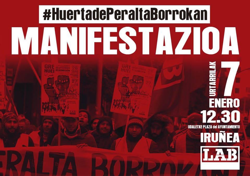 La Lucha es, el único camino. Huelga en Huerta de Peralta. Manifestación 7 de Enero