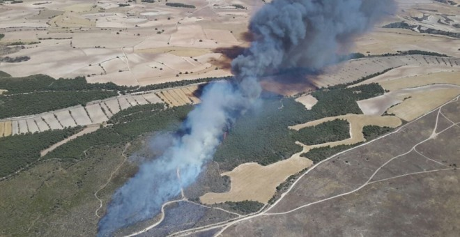 El Ejército admite haber causado 36 incendios forestales en Zaragoza