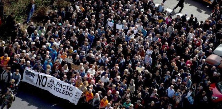 Los grandes sindicatos (CC.OO y UGT) fracasan en sulucha porcontrolar la movilización de los jubilados
