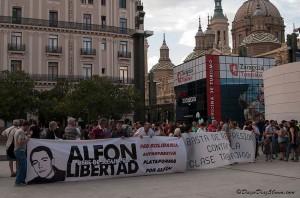 Zaragoza exige la libertad de Alfon y de todos los presos políticos represaliados por el regimen