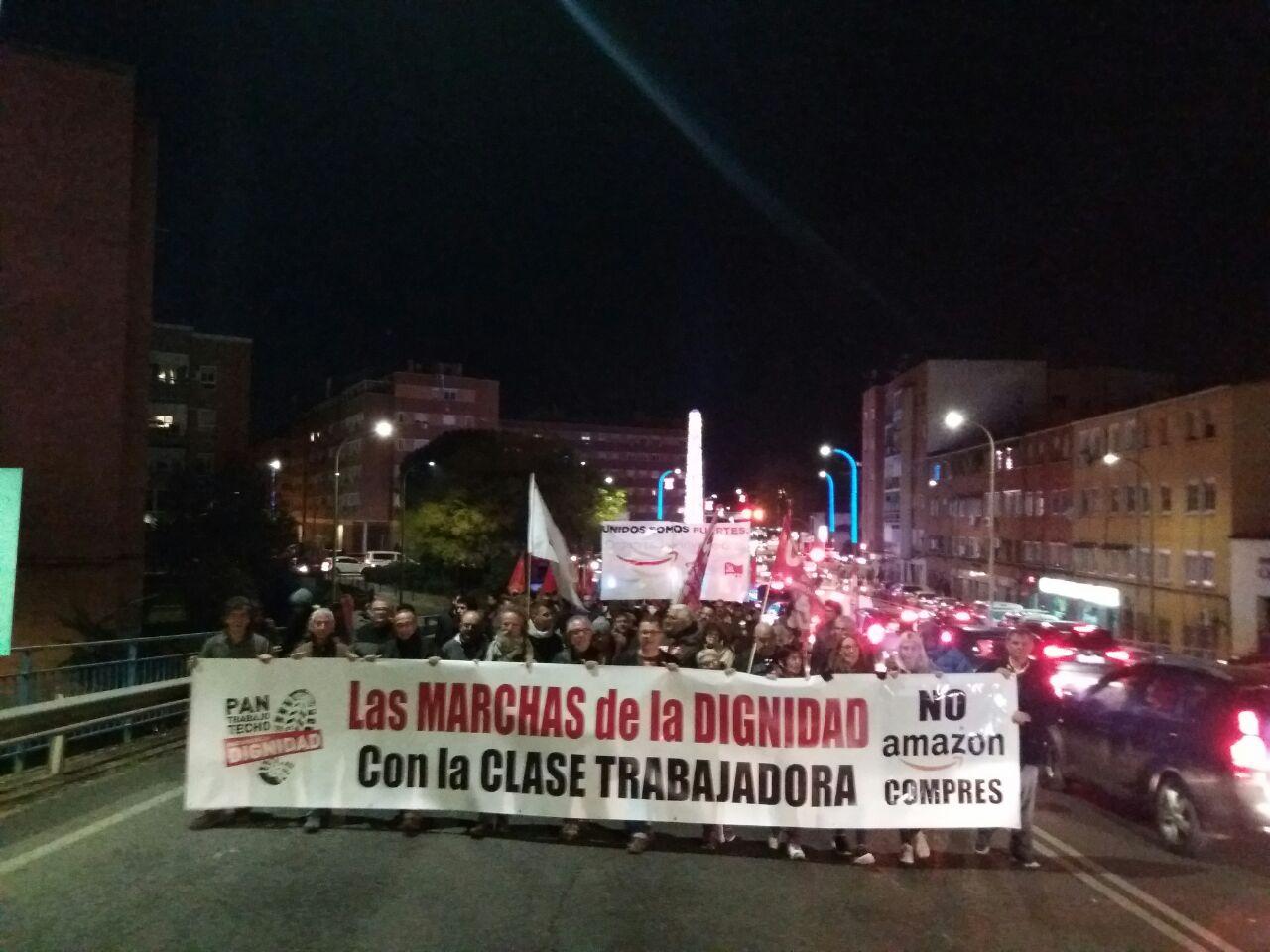 Videos y fotos de la digna lucha de los trabajador@s de Amazon. La lucha continúa.