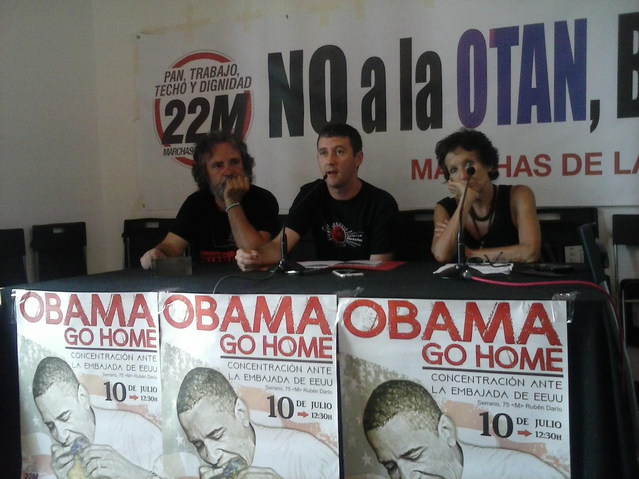 Rueda de prensa ante la visita de Obama en Madrid