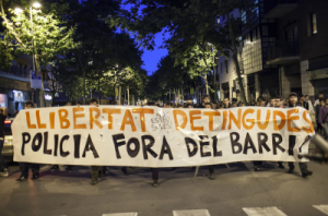 Miles de personas vuelven a manifestarse en apoyo a Can Vies por cuarto día consecutivo