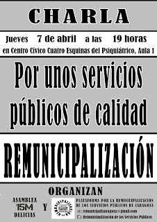 Charla Remunicipalización: Por Unos Servicios Públicos de Verdad