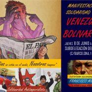 Manifestación en Cádiz 8 de junio en solidaridad con la Venezuela Bolivariana