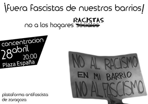 Concentración 28 Abril. ¡¡Fuera fascistas de nuestros barrios…!!