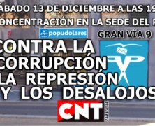 Contra la corrupción, la represión y los desalojos.