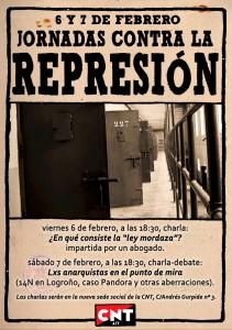 [CNT-Zaragoza] 6 y 7 F – Jornadas contra la represión