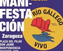 Manifestación en Zaragoza por un Río Gállego vivo. Domingo 25