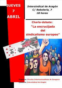 Cartel charla sindicato europeo