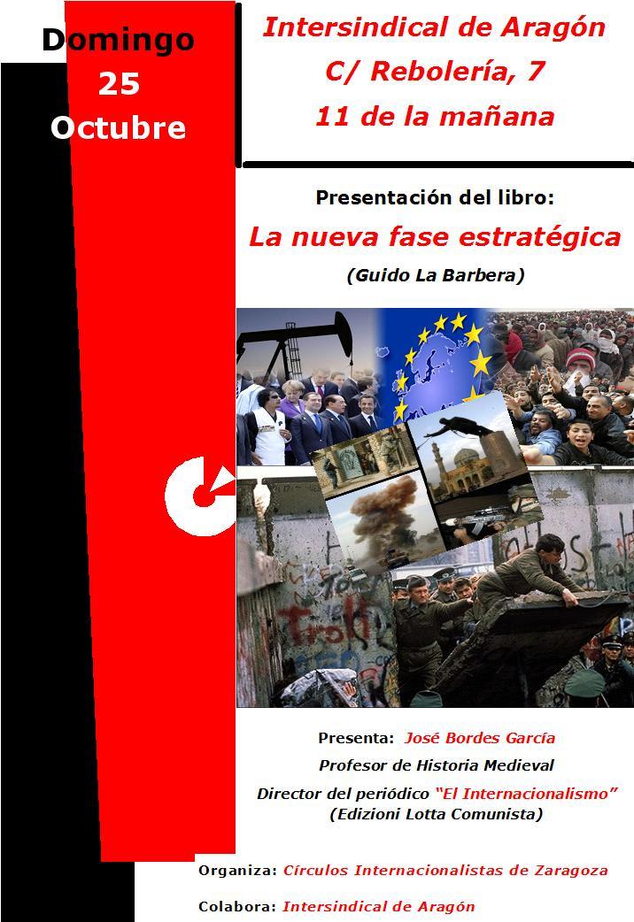 Presentación del libro. «La nueva fase estratégica»  (Guido La Barbera)