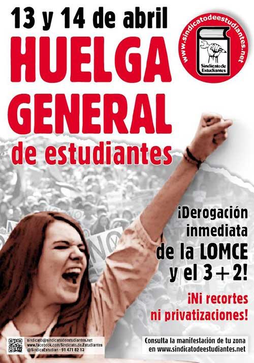 13 y 14 de abril: Huelga general de estudiantes