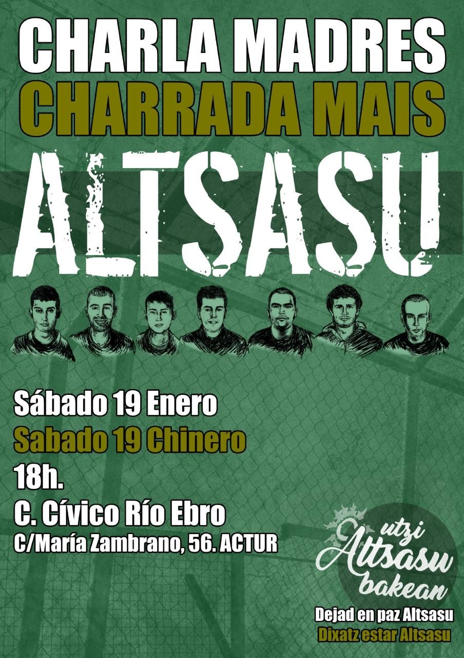Dejad en paz Altsasu. Charla en Zaragoza, sábado 19 de Enero.