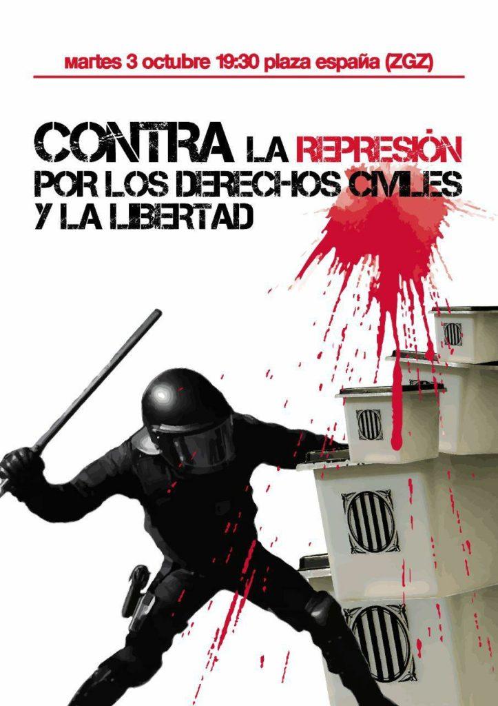 ¡NUNCA MÁS! CONTRA EL ESTADO DE EXCEPCION Y EL TERROR DE ESTADO. Contra la represión, por los derechos civiles y la libertad.