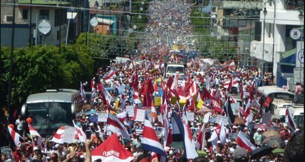 COSTA RICA cumple un mes de huelga general