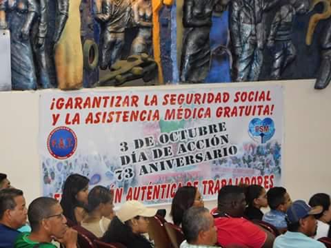 73º ANIVERSARIO DE LA FEDERACIÓN SINDICAL MUNDIAL.