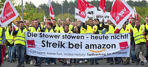 ITALIA, ALEMANIA. Trabajadores de Amazon en huelga por unos salarios más dignos