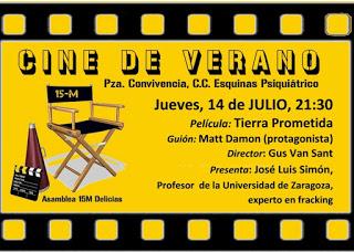 II Cine de Verano ´16. Asamblea Delicias