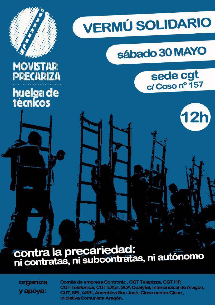 Vermú solidario, lucha trabajadores Movistar…