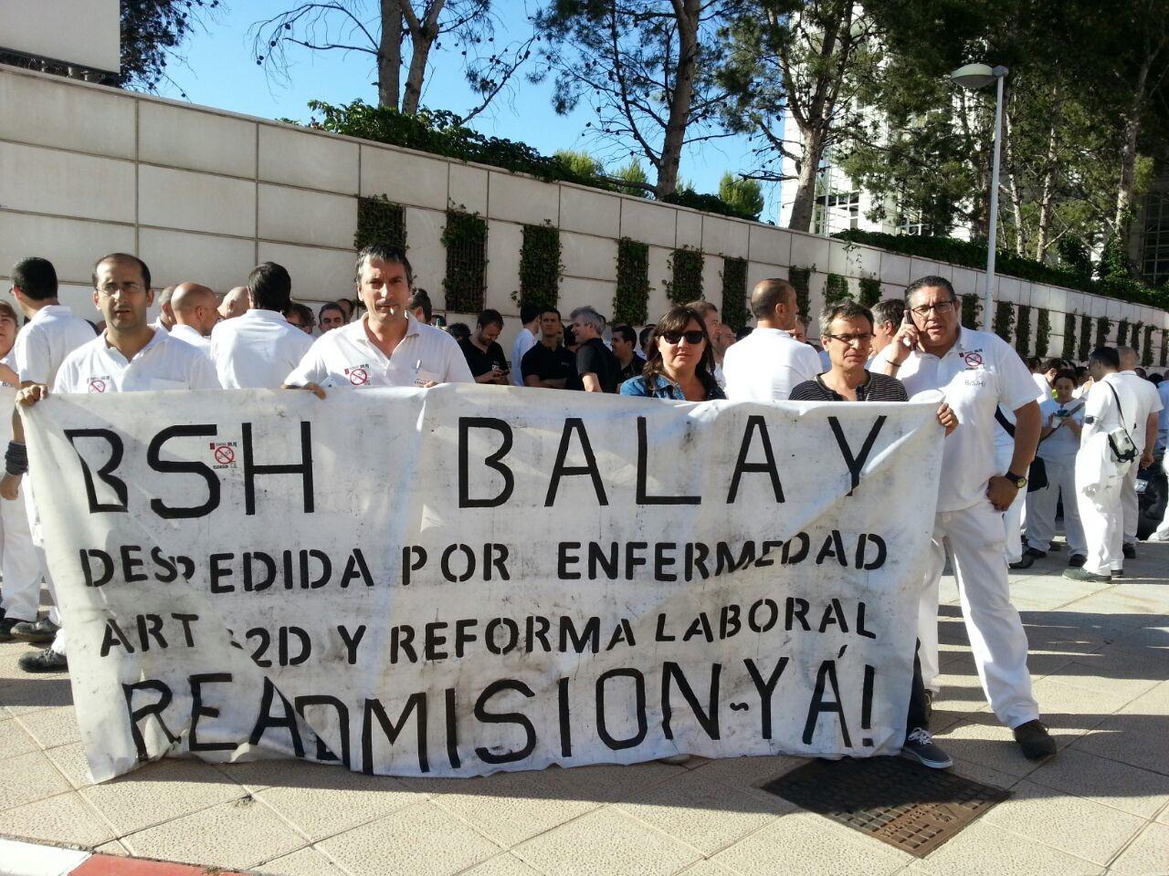 EXITO EN LOS PAROS DE BSH-BALAY EN ZARAGOZA