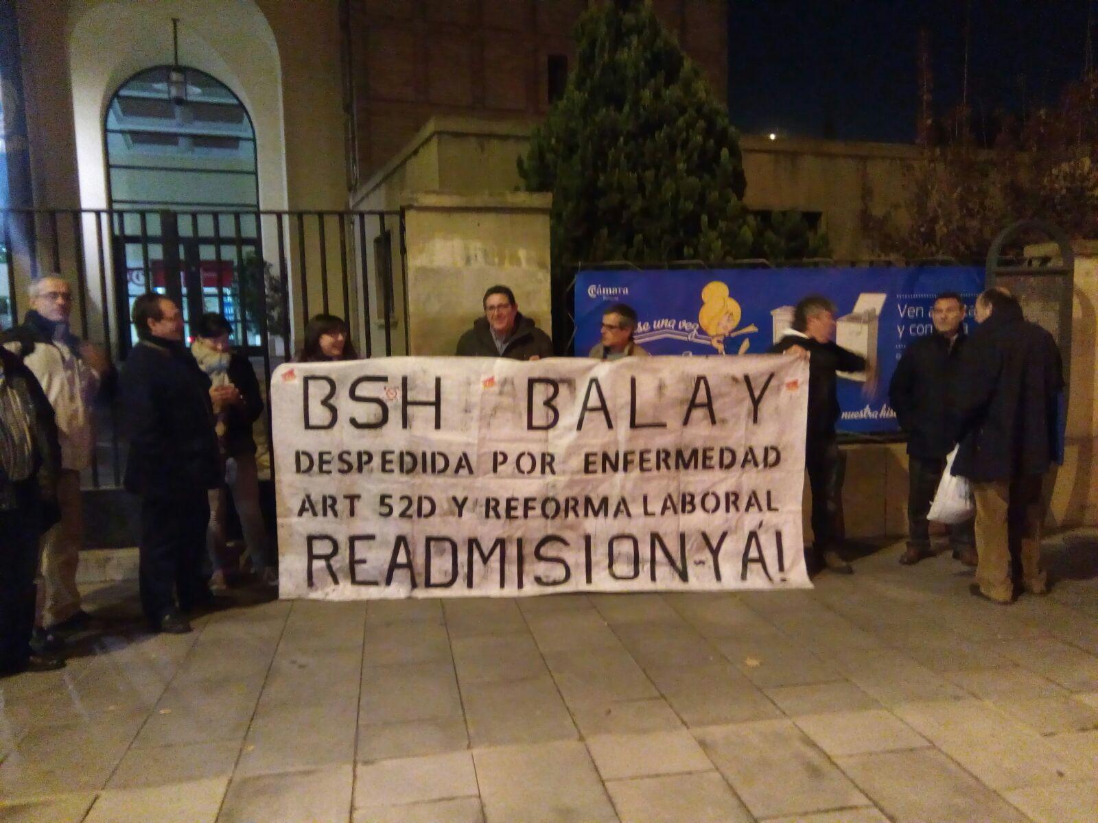 Concentración viernes 27/11 en exposición de Balay. ¡ FUERA REFORMAS LABORALES! ¡READMISION DESPEDIDA YA!