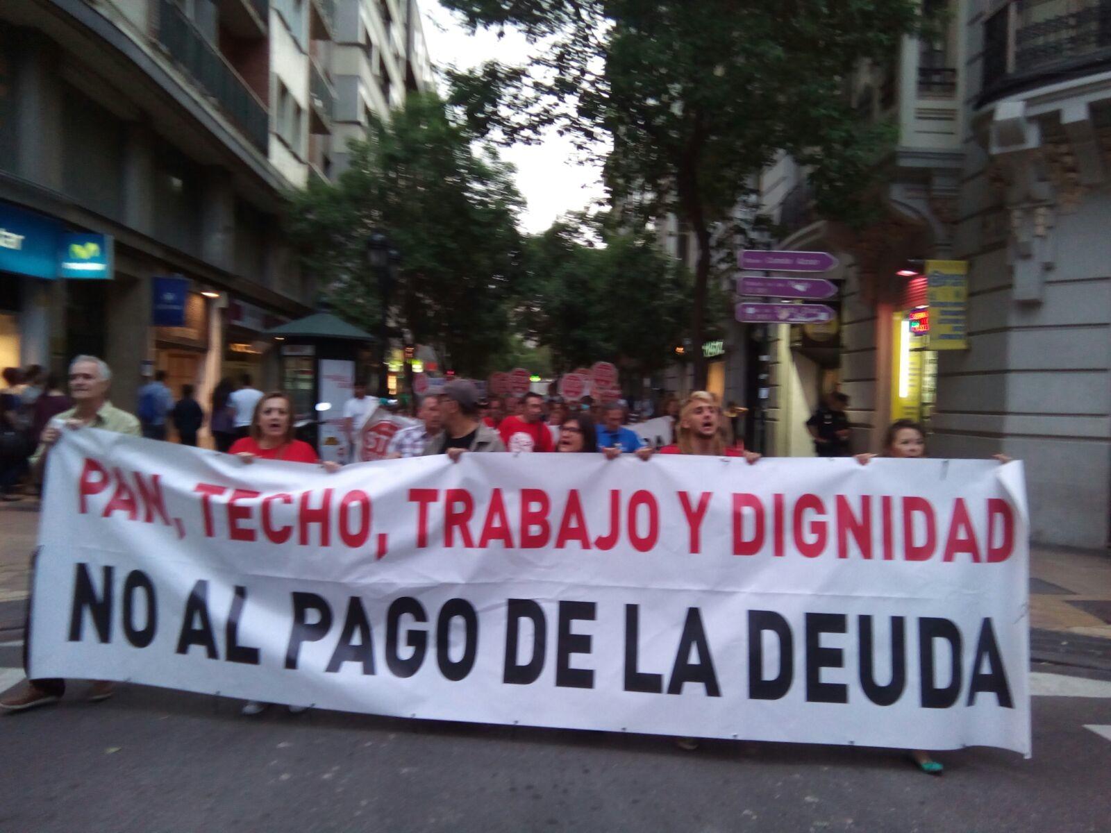 Somos antisistema porque este sistema no garantiza nuestras vidas. Marchas de la Dignidad de Aragón.