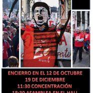 Encierro en el  Hospital 12 de Octubre, Madrid y solidaridad desde Aragón