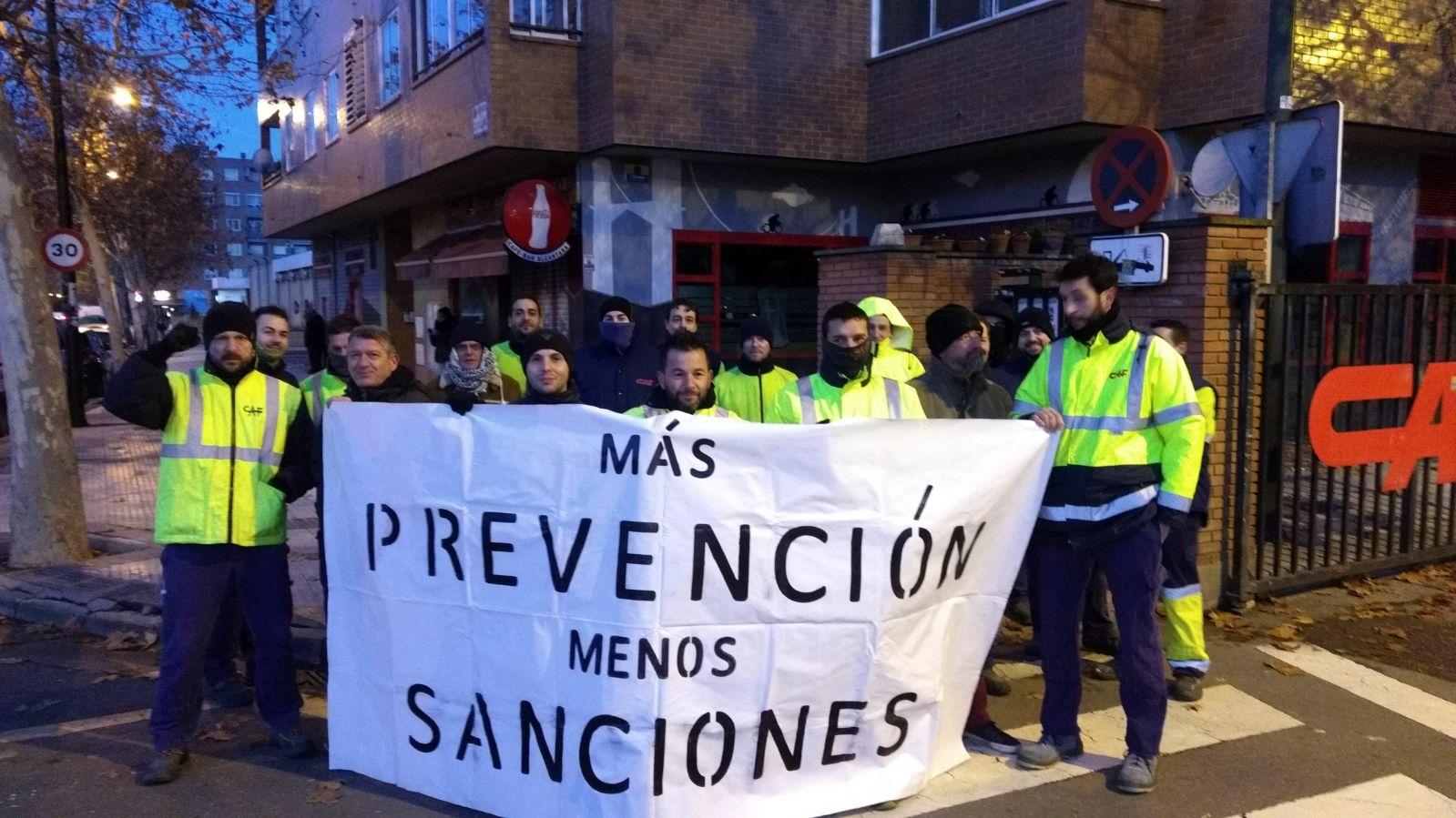 Movilizaciones en CAF-Zaragoza. Respuesta de GTI-IA ante la actitud de la empresa con los sancionados