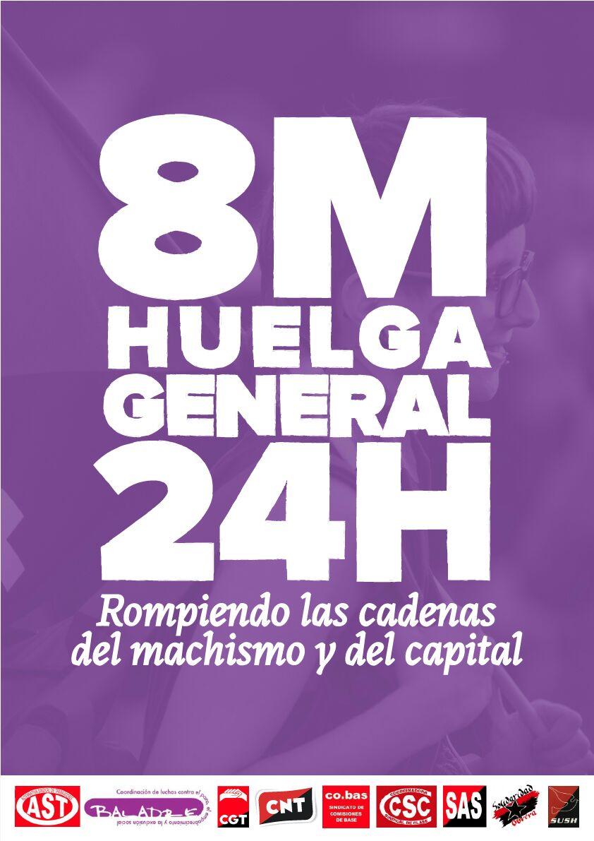 INTERSINDICAL DE ARAGON VA A LA HUELGA GENERAL DE 24 H DEL 8 DEMARZO POR LOS SIGUIENTES MOTIVOS. Información a los trabajador@s