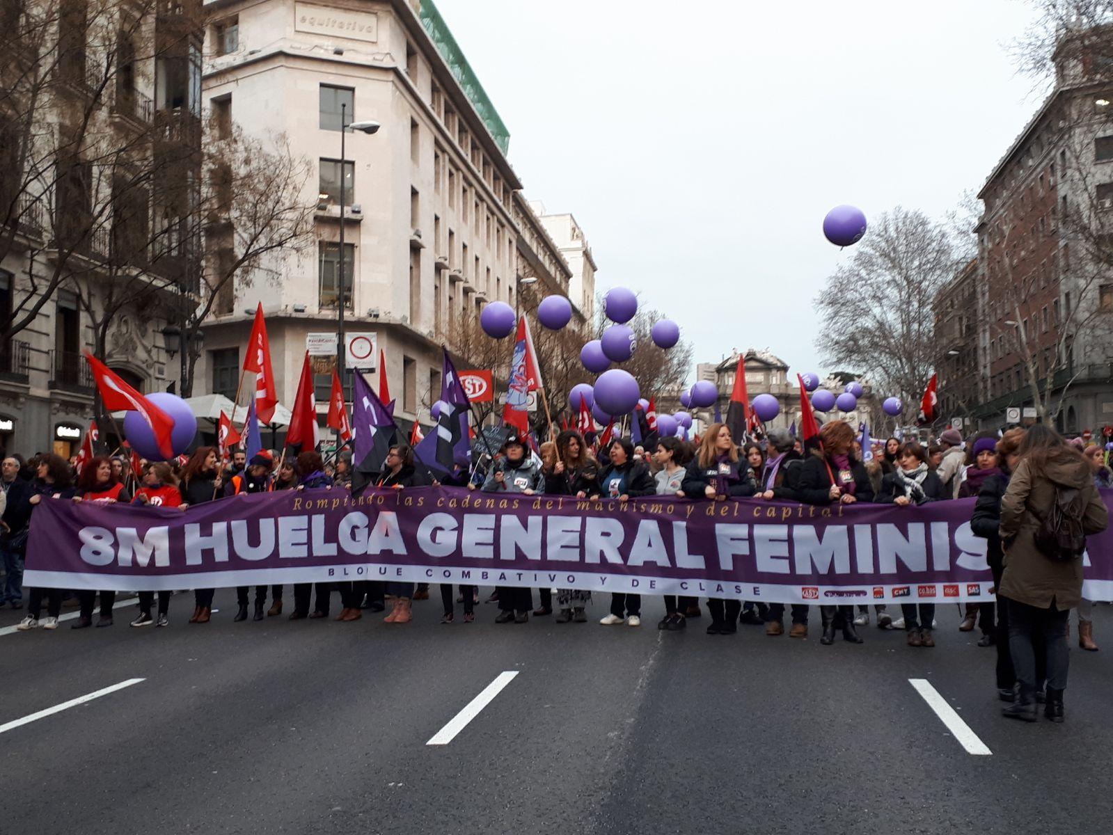 Fotos, Bloque combativo en Madrid, 8 de Marzo