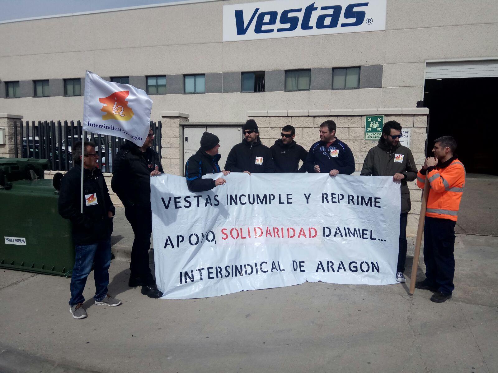 Intersindical de Aragón consigue un miembro más en el Comité de empresa de Vestas en las elecciones parciales. Resultados