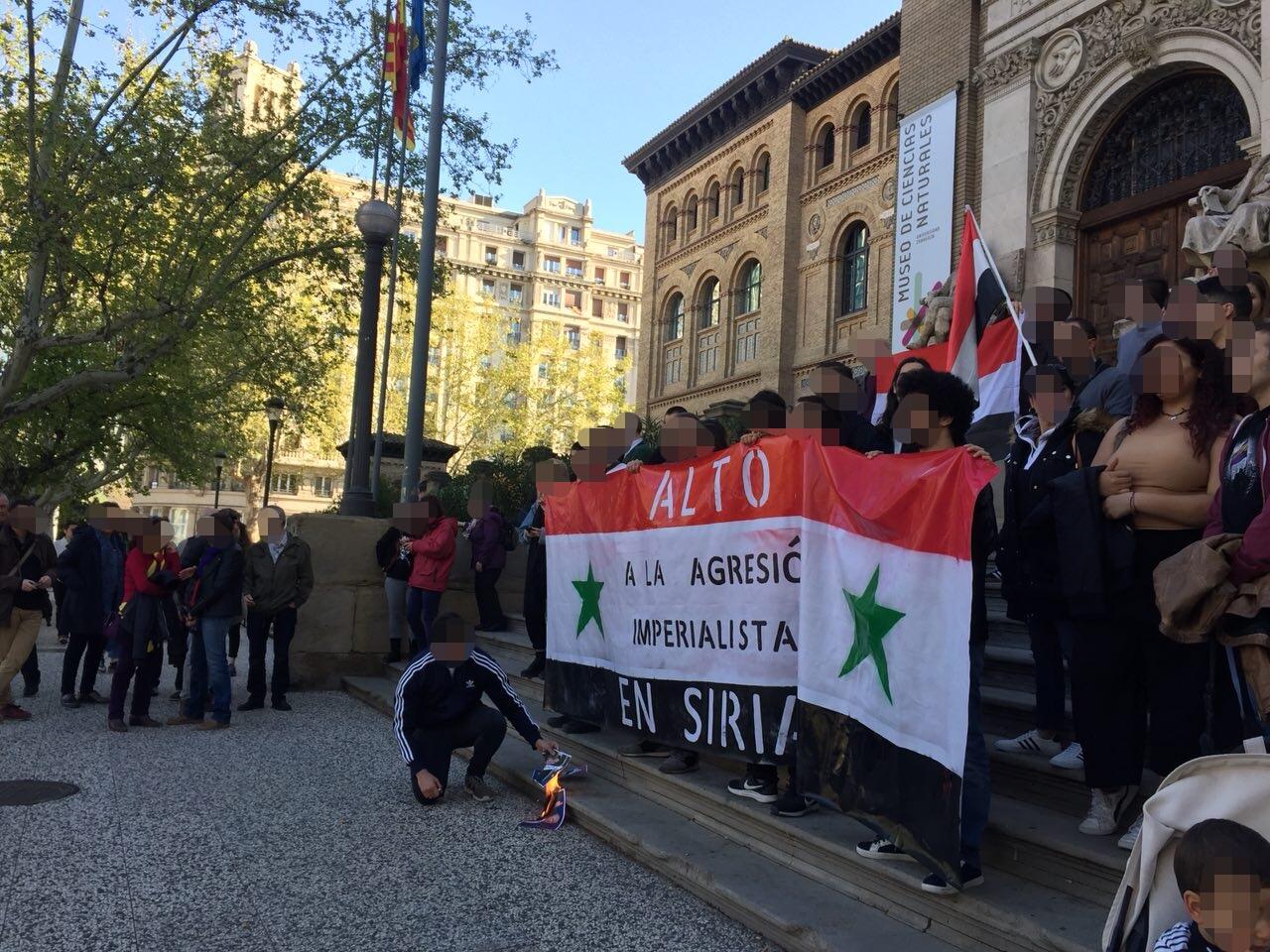 Fotos movilización contra el ataque Imperial a Siria del 13 de Abril. Zaragoza
